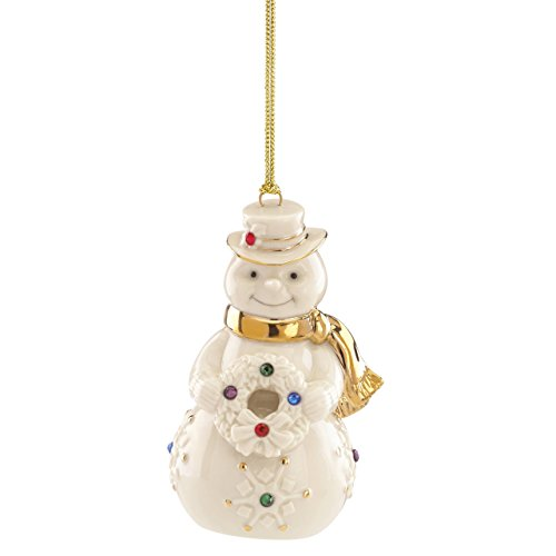 Lenox 865542  Holiday Gems Snowman Ornament