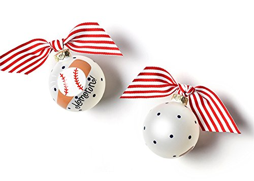 Coton Colors Baseball and Bat Glass Ornament