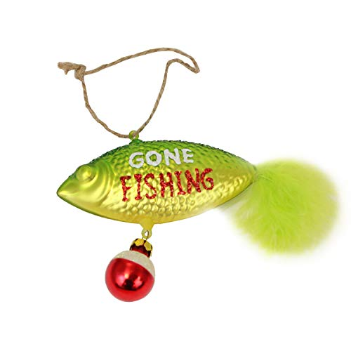 Beachcombers Coastal Life Decorative Ocean Ornament with S-Hook (Fishing Lure, B21649)