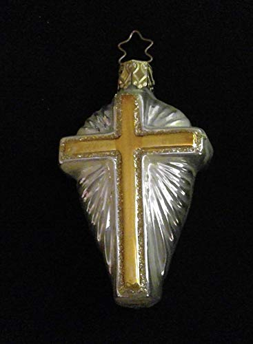 Gold Cross Inge Glas Glass Christmas Ornament