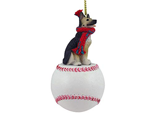 Conversation Concepts German Shepherd Tan & Black Baseball Ornament