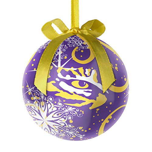 Topperscot NCAA LSU Tigers Decoupage Ball Holiday Ornament