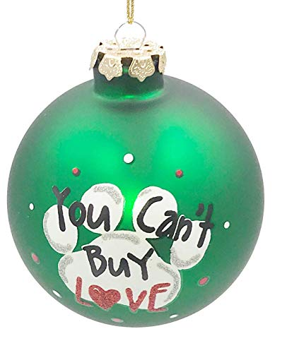 Holiday Lane Paw – Rescue Dog Love 4-inch Ball Ornament, 4-inch Rescue Pet Keepsake