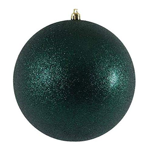 Vickerman 586327-2.4″ Midnight Green Glitter Ball Christmas Tree Ornament (24 pack) (N590674DG)