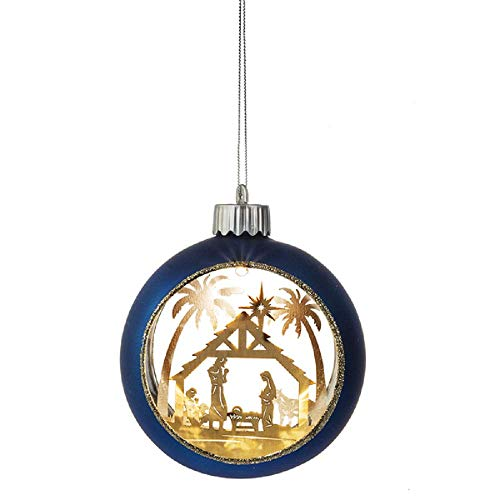 MIDWEST-CBK Ganz Lighted LED Holy Family Ornament