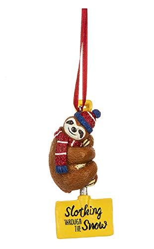 Ganz Slothing Through The Snow Sloth Ornament