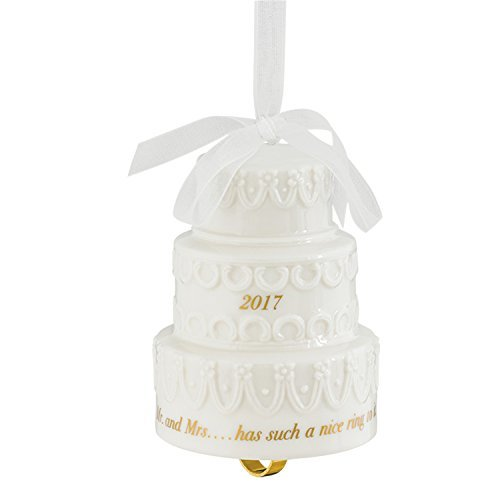 Carlton Ornament 2017 First Christmas Together – Porcelain Wedding Cake CXOR002M