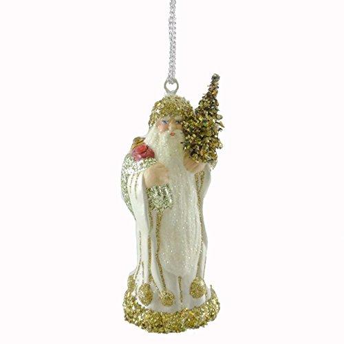 Christopher Radko Golden Tidings Paper Mache Ornament Schaller Santa German