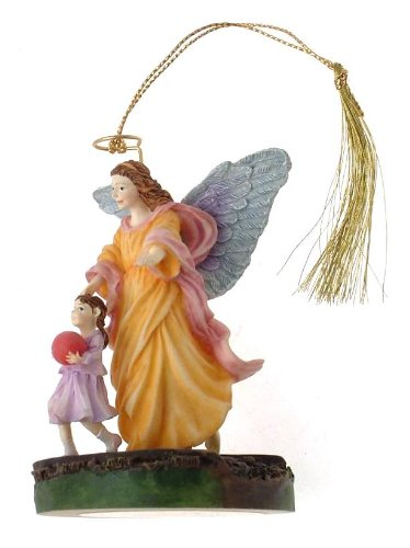 c1998 Bradford Editions By My Side Someone to Watch Over Me guardian angel ornament – F443