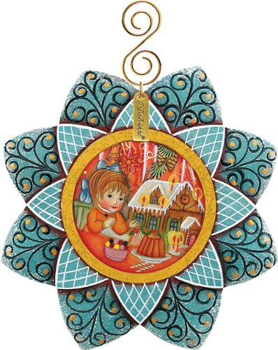 G.DEBREKHT / RUSSIAN GIFT Ginger Bread Snowfall – Russian Hand Crafted Hand Painted Folk Art 6102192-GDB