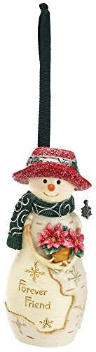 Pavilion Gift Company BirchHeart 4-Inch Tall Snowman Ornament, Reads Forever Friend