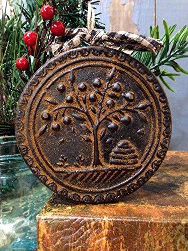 Blackened Beeswax American Folk Art Beehive Willow Tree Ornament Cinnamon Scented with Saigon Cinnamon Rub