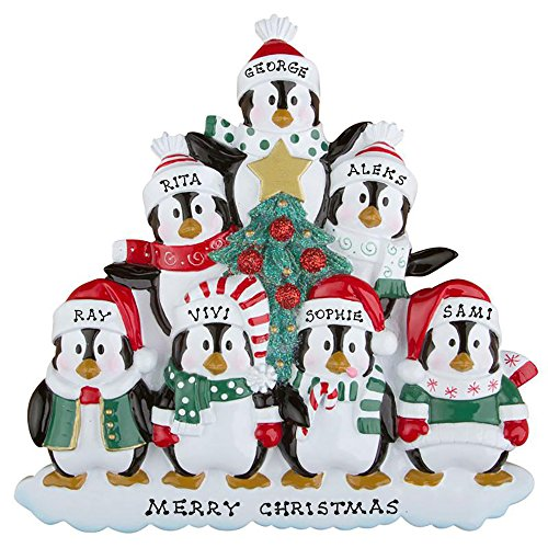 Polar X Personalized Christmas Ornament Penguins Family (Family 7)