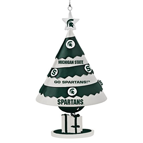 NCAA Michigan State Spartans Tree Bell Ornament