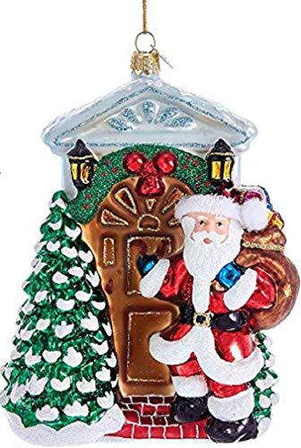 Kurt Adler 5.75″ Noble Gems Santa In Door Ornament