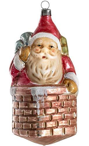 Marolin Nicholas w/Sack in Chimney MA2011214 Glass Christmas Ornament w/Gift Box