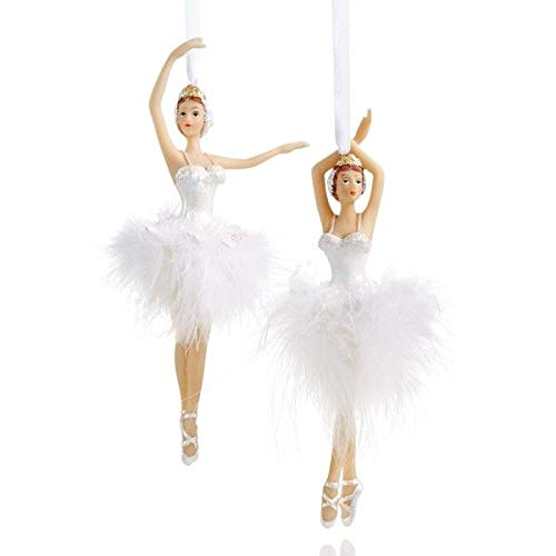 Holiday Lane Set of 2 Resin Ballerina Ornaments