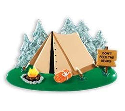 Polar X Camping Tent Personalized Christmas Ornament