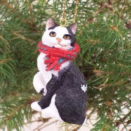 Conversation Concepts Black & White Manx Cat Ornament
