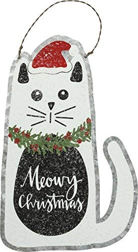 Primitives by Kathy Tin Hang Up – Cat – Meowy Christmas