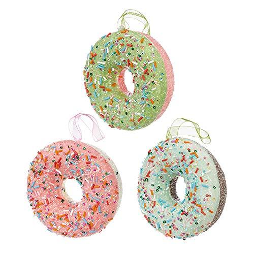 RAZ Imports 4.5″ Donut Ornament, 3 Assortment (3916167)