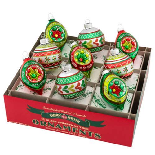 Christopher Radko Holiday Rounds & Reflector Tulips Set of 9