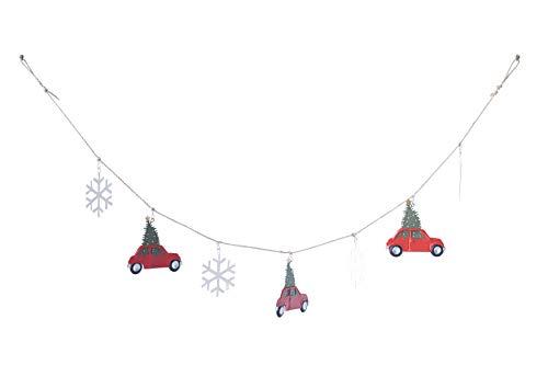 Creative Co-Op Tin Red Car Garland