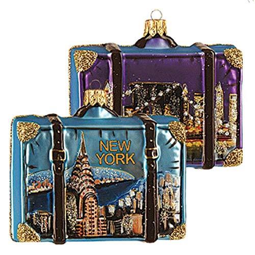 Pinnacle Peak Trading Company Brooklyn Bridge New York City Polish Glass Christmas Ornament ONE Decoration