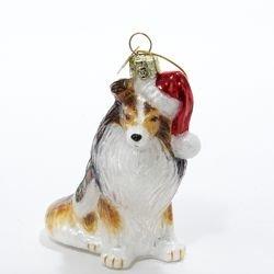 Kurt Adler Noble Gems Shetland Sheepdog Glass Christmas Ornament