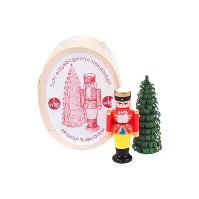 Alexander Taron 070-028 Dregeno Chip Box – Red Nutcracker with Tree – 1.5″ H x .75″ W x .5″ D, Brown