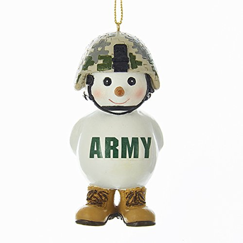The Lakeside Collection Kurt Adler U.S. Army Snowman Ornament