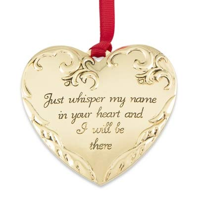 Things Remembered Personalized Gold Memorial Photo Locket Ornament with Engraving Included