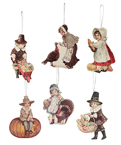 Bethany Lowe Thanksgiving Child Ornament Set of 6