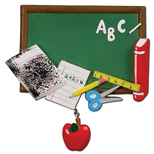 Polar X School Classroom Blackboard Personalized Christmas Ornament
