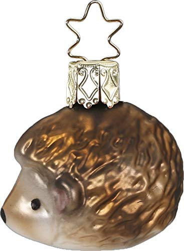 Inge-Glas Mini Hedgehog 10028S019 German Glass Christmas Ornament