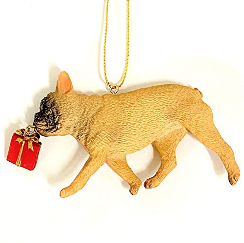Holiday Lane French Bulldog with Red Present Christmas Ornament