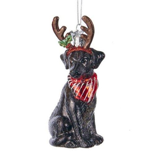 Kurt Adler Noble Gems Black Labrador Retriever Ornament