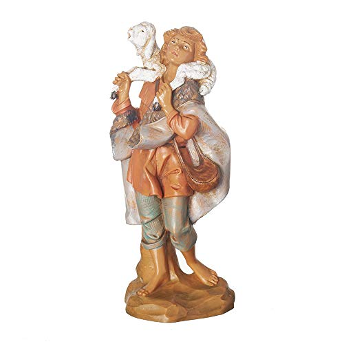 Fontanini, Nativity Figure, Gabriel The Shepherd, 7.5″ Scale, Collection, Handmade in Italy, Designed and Manufactured in Tuscany, Polymer, Hand Painted, Italian, Detailed