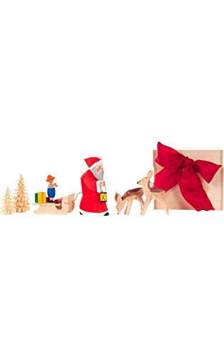 Alexander Taron 103-001B Dregeno Chip Box – Santa and Deers – 2.5″ H x 3″ W x 2.75″ D, White