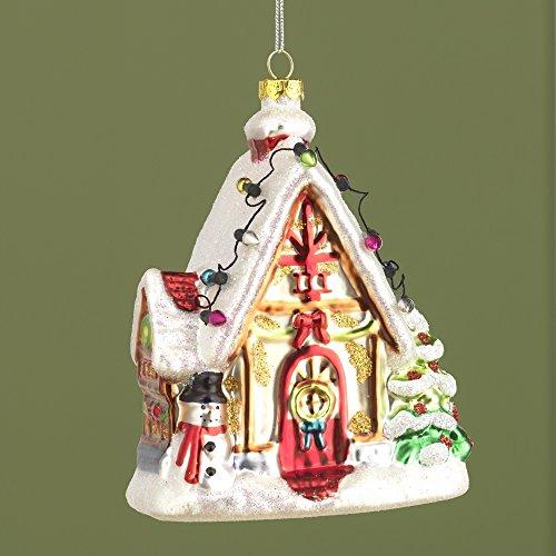 RAZ Imports 5″ House Christmas Tree Ornament