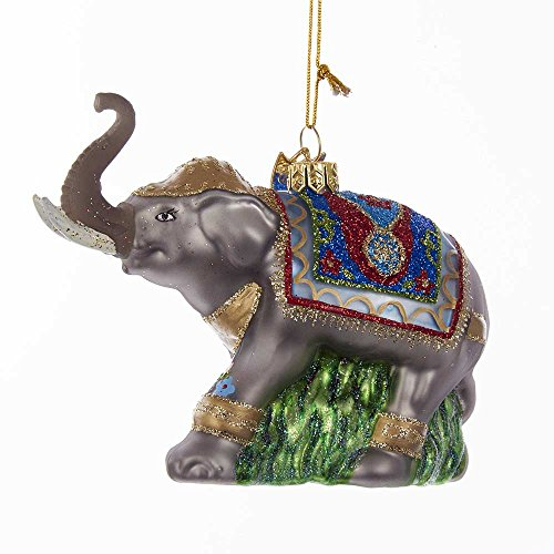 Kurt Adler Kurt S. Adler Noble Gems Fancy Elephant Glass Ornament