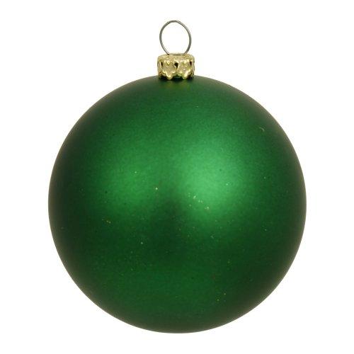 Vickerman Matte Green UV Resistant Commercial Shatterproof Christmas Ball Ornament, 4″