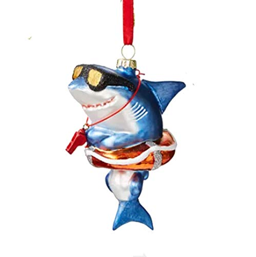 Holiday Lane at The Beach Shark in a Life Buoy Ornament