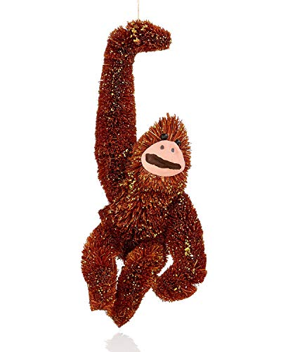 Holiday Lane Orangutan with Gold Glitter Ornament