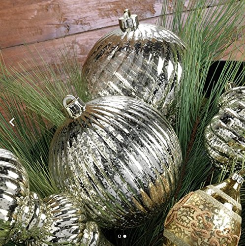 RAZ Imports 6″ Mercury Ball Ornament Set of Two
