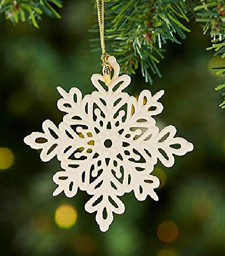Lenox 2019 Snow Fantasies Snowflake Porcelain Ornament Annual Ivory Ornament New