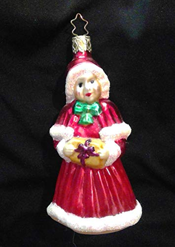 Mrs. Claus Glass Christmas Ornament Inge Glas