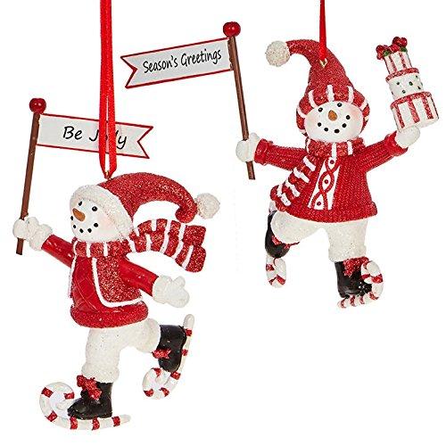 RAZ Imports 6″ Skating Snowmen Ornaments
