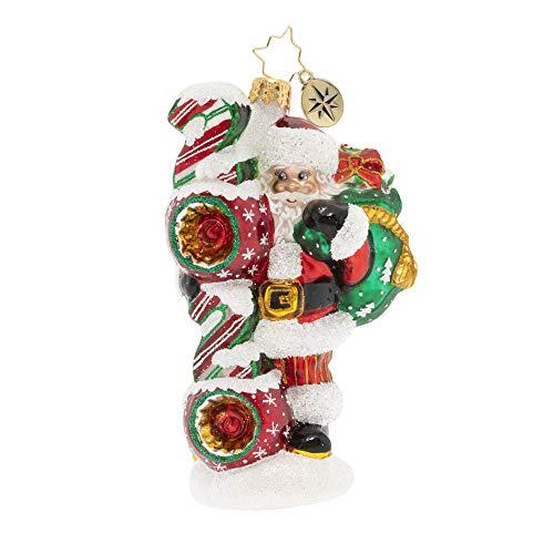 Christopher Radko Hand-Crafted European Glass Christmas Ornament, Santa's 2020 Vision
