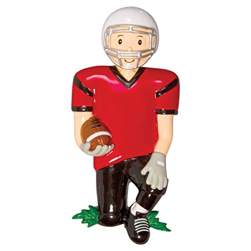 Sports FOOTBALL Player Personalized Christmas Tree Ornament